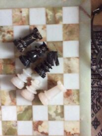 Onyx chess set, v heavy