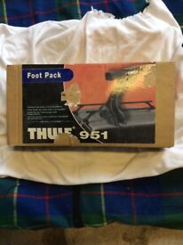 Thule 951 Roof Rack Foot Pack for gutters low 15cm.