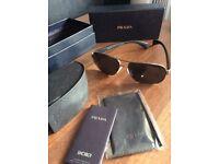Men's PRADA black sunglasses