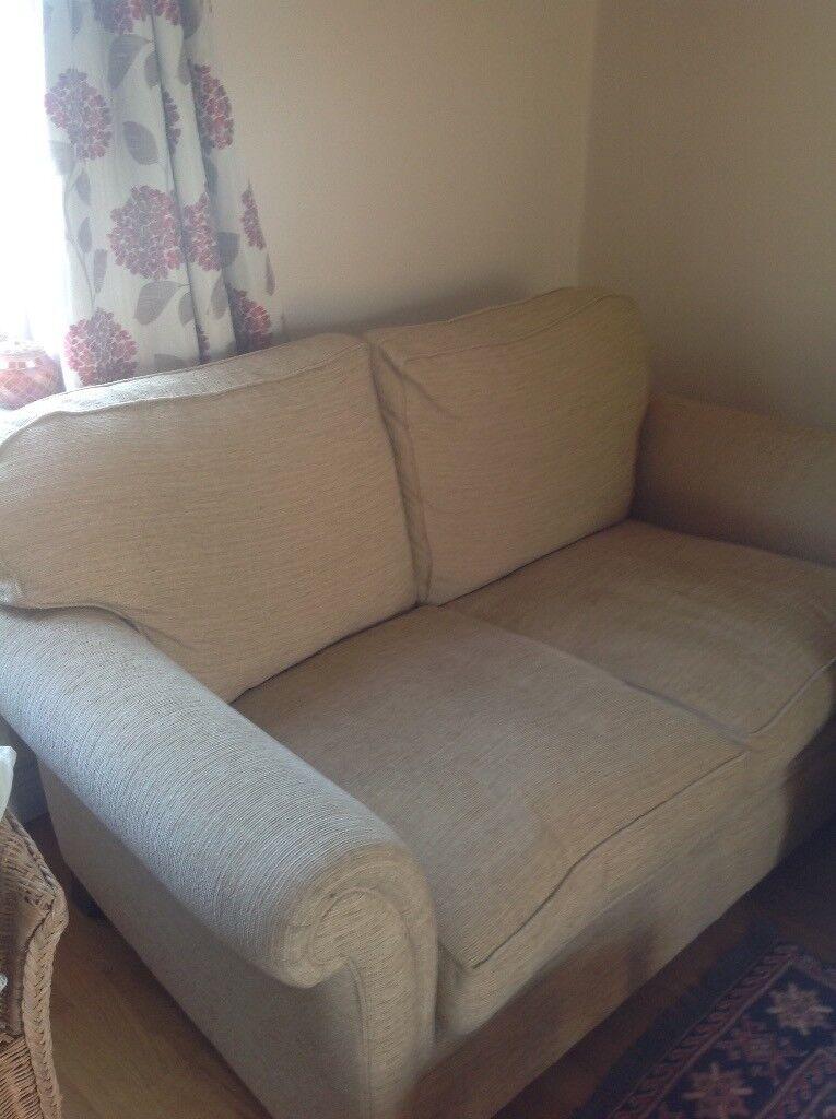 Lovely 3 Seater Sofa Cream Cord John Lewis Or Laura Ashley