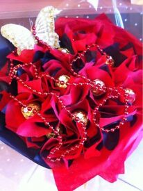 FERRERO ROCHER BOUQUET AS A GIFT FOR YOUR LOVED ONES,ALSO AVAILABLE WITH LINDOR CHOCOLATE.