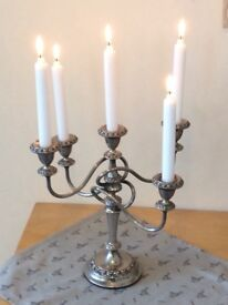 Ornate Plated Candleabra