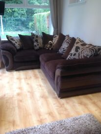 Sofology corner sofa-brown