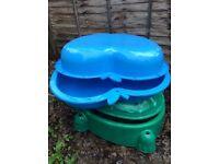 Blue Sandbox and Water Pit 12£. Turtle green sandbox 8£