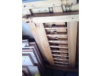 Wooden bits from beds and wardrobe