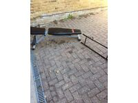 Workout bench and push-up bar