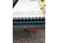 Corrugated metal roofing sheets 10ft x 1metre slight seconds