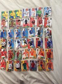 73 Adrenalyn 2010 World Cup cards and 5 Euro 2012 cards inc 100 hundred clubs £4 Bargain!