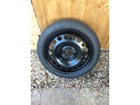 Vauxhall Astra J GTC space saver wheel