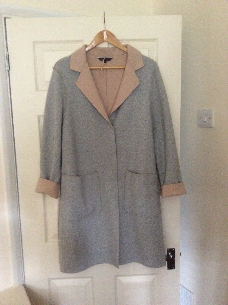 Ladies M&S grey/beige coat