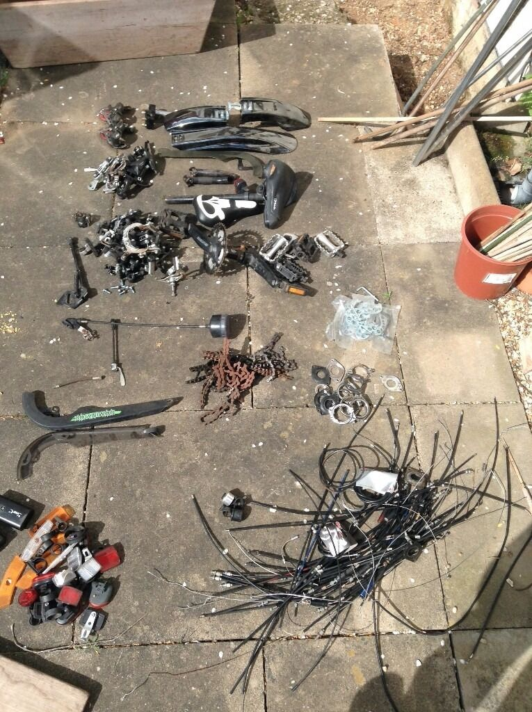 Bike Parts for SparesRepairsin Ipswich, SuffolkGumtree - I have an assortment of bicycle parts, great for spares and repairs. Included in this are Pedals Bottom Brackets & Cranksets Brake Callipers & Pads Brake Cables Headsets Lights Mudguards Derailleurs (Front & Rear) Chains (New & Old)