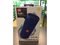 JBL Flip 3 Portable Bluetooth Speaker in Blue *BRAND NEW BOXED AND SEALED*