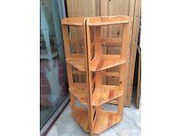 Pair of Pine Corner Shelves