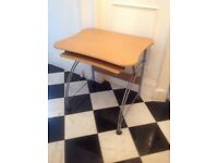 Modern beech computer desk. Excellant condition. Small compact. Only £15. Priced to sell.