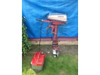 Yamaha 8hp long shaft 2 stroke outboard motor,