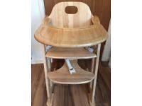 East Coast Multi wooden high chair 6months to 10 years old