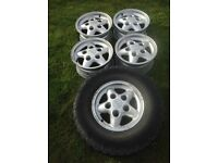 x5 landrover defender / discovery silver alloy wheels