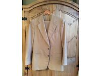 Vintage Pierre Cardin beige pin striped suit