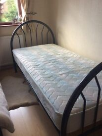 Single 3ft bed frame and mattress