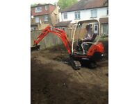 Mini Digger & Driver, footings,Garden Clearance,Soakaways,Ceptic tanks,land clearance, Ditching etc