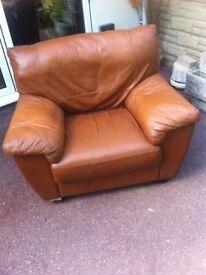 Italian leather armchair