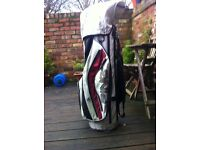 Petron golf clubs and ping bag