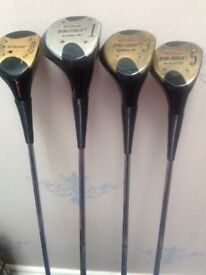 4 woods in good condition