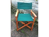 Four Director's Chairs, hardwood frame, new