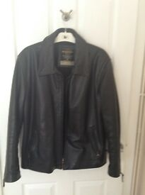 MENS BLACK LEATHER JACKET, Genuine Mays and Rose