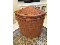 Large Solid Wicker Laundry Basket
