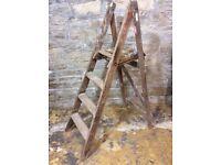 Vintage wooden paint splattered Step Ladder. Shop display or practical