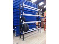 Car Tyre Wheel Garage Workshop Storage Freestanding Racking Shelving Rack Stand