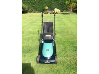 Hayter 41 electric push mower with rear roller, used for two seasons since new.