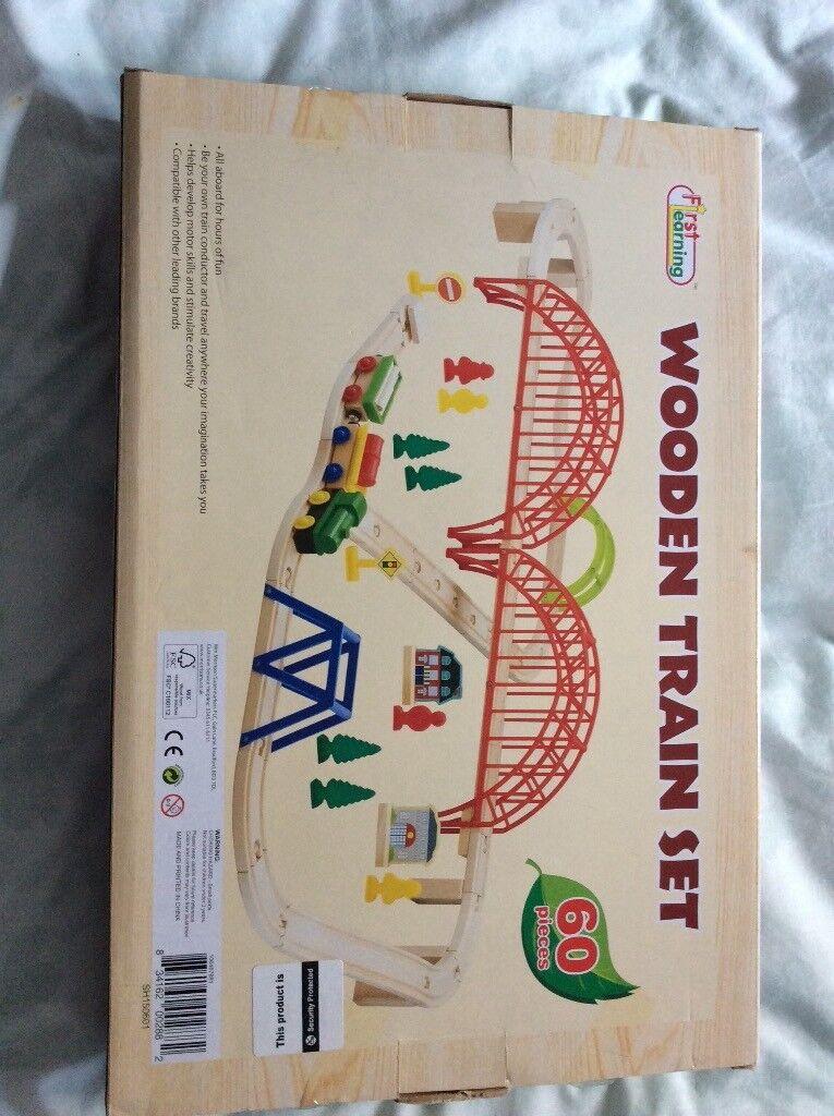 Wooden train set brand new in box