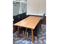 Dining table with 6 chairs 6 ft x3ft , QUICK SALE NEEDED GRAB A BARGAIN £40