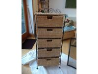 Smart wicker drawers suitable for all areas of the house or conservatory