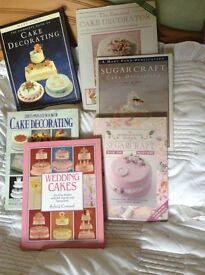 CAKE DECORATING & SUGARCRAFT BOOKS x 7