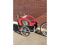 Twin cycle trailer ( converts to a jogger pushchair too)
