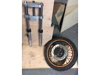 Pitbike forks and front wheel