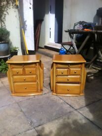 A Pair Of Good Solid Bedside Cabinets