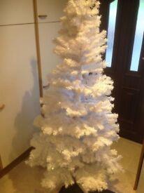 6 ft white Christmas tree