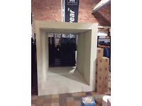 Large white display unit 2 metres wide 2.4 metres high