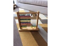 Wooden Toys - Melissa and Doug - Monkey walker and Abacus plus bus and bobbing toys