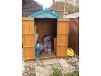"""Garden Shed 6x4"""", double doors"""