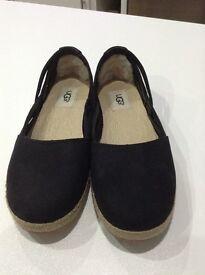 UGG black slip on casual ladies shoe