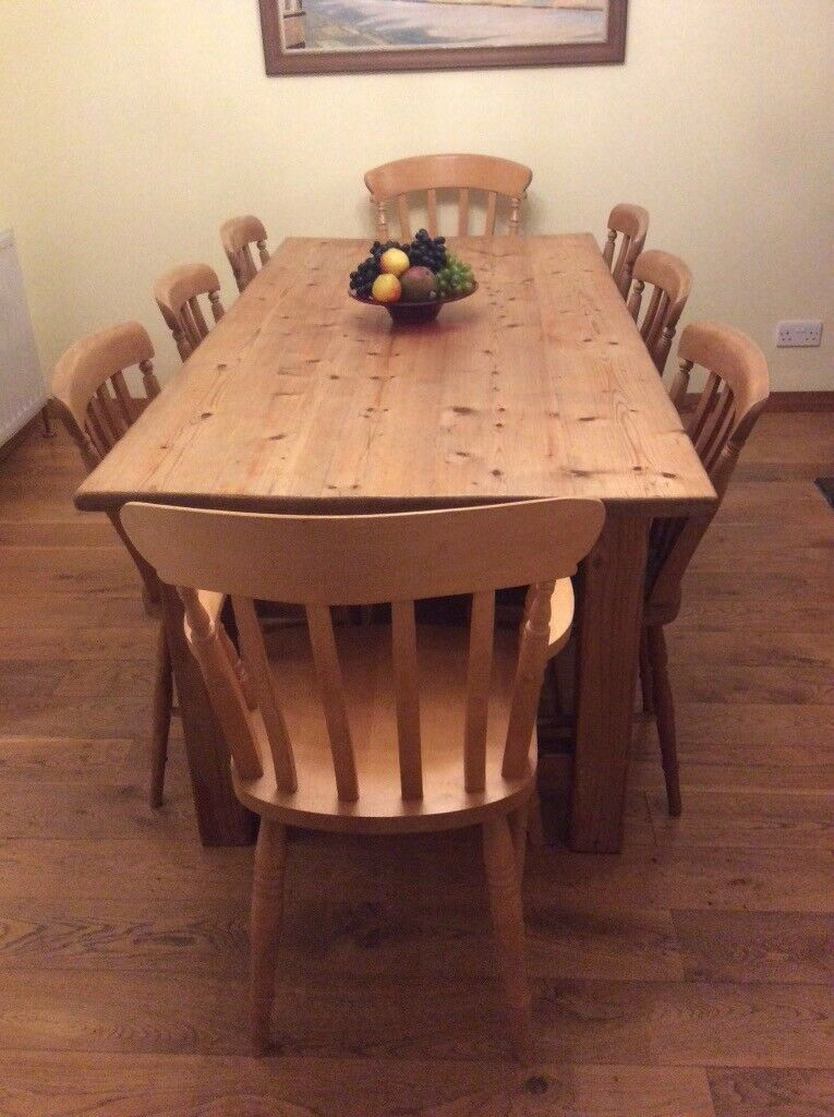 Farmhouse Pine Table Chairs And Dresser For Sale In Maldon Essex Gumtree