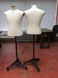 Vintage male tailor's dummies / dress makers mannequins / shop props (2 available)