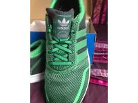 Adidas Los Angeles Running Trainer, Green, size 8