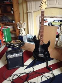FOR SALE ELECTRIC GUITAR AND PRACTICE AMP
