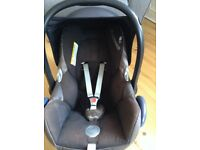 NEW PRICE Maxi Cosi Cabrio fix car seat and Isofix